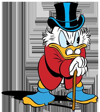 dagobert-duck-lehnt-grimmig-auf-seinem-g