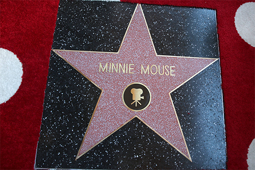 Der Hollywood-Stern von Minnie Maus