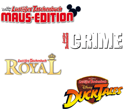 LTB Maus-Edition 10, LTB Crime 2, LTB Royal 5, LTB DuckTales 4